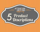 5 Etsy Listing Descriptions – Etsy SEO Help Includes 13 Tags & Titles
