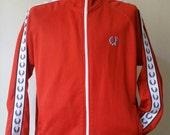 FRED PERRY Sportswear Laurel Tape Track Jacket sz L