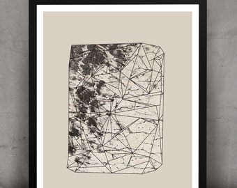 Abstract Geometric Urban Gemstone Print-Ecru