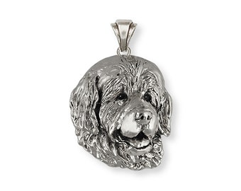 Handmade Newfoundland Dog Pendant Jewelry Sterling Silver   HM-NU1-P