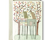 My life in a Tree House I - Greeting Card