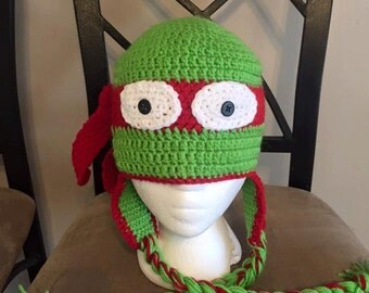 Ninja Turtle Crochet Hat