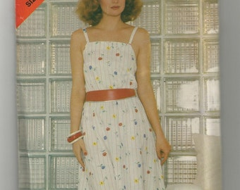 5028 See & Sew Sewing Pattern Unlined Jacket Semi Fitted Dress Size 14 16 18 36B 38B 40B Vintage 1980s