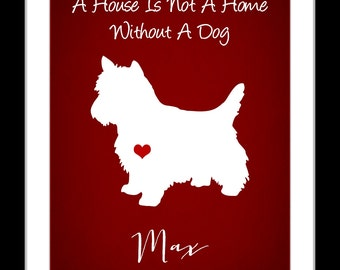 A Custom pet silhouette print, christmas gift, personalized pet silhouette, animal print, fur baby love, pet art, custom pet print