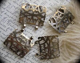 antique jewelry supply, vintage metal, rare, vintage nurses belt, metal belt, 1 jewelry finding, EPNS, vintage jewelry supply, AnvilsAttic,