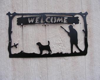 Bird Dog welcome sign. (Beagle)