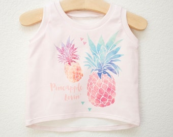 Pineapple Lovin' Blush Tank for Babies and Toddlers