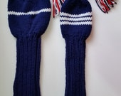 2- 12 inch Hand knit Hybrid Headcovers