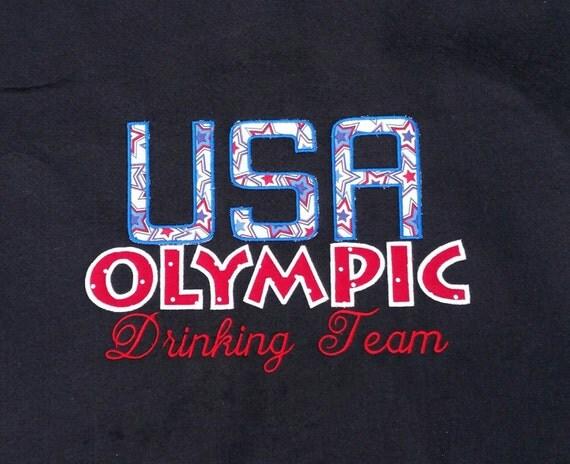 hooded sweatshirt - USA Drinking team Hoodie - USA colored hooded sweatshirt - Drinking team hooded sweatshirt