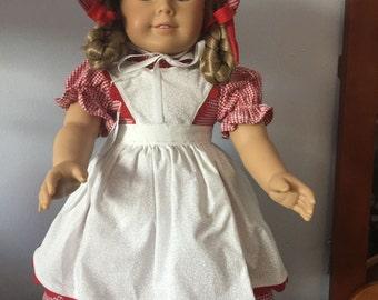American Girl dress and pinafore set