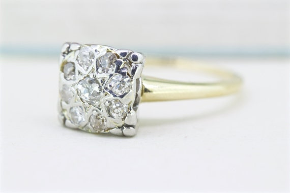 Vintage Engagement Ring 1950s Diamond by FergusonsFineJewelry