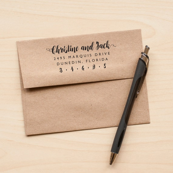calligraphy address stamp personalized wedding stamp rubber stamp wedding invitation stamp rustic wedding stamp wedding stationery eco - Wedding Invitation Stamp