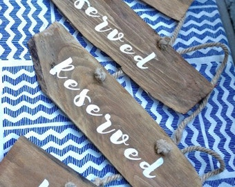 """Wooden Shingle """"Reserved"""" Signs"""