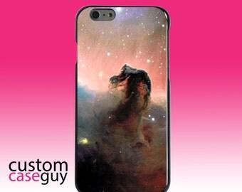 Hard Snap-On Case for Apple 5 5S SE 6 6S 7 Plus - CUSTOM Monogram - Any Colors - Horsehead Nebula Stars