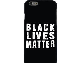Hard Snap-On Case for Apple 5 5S SE 6 6S 7 Plus - CUSTOM Monogram - Any Colors - Black Lives Matter