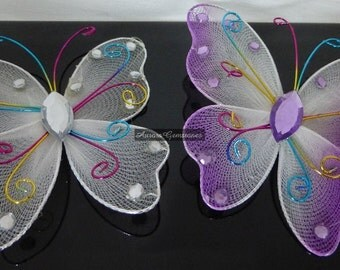 Butterfly & Flower Embellishments - Choices Available