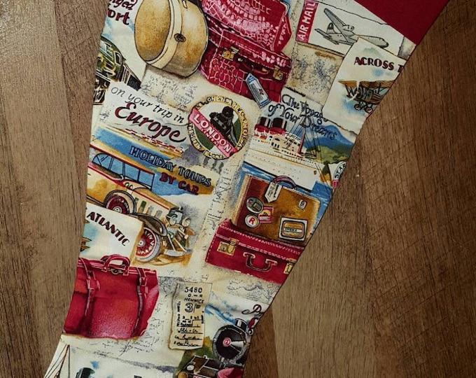 Travel Christmas Stocking