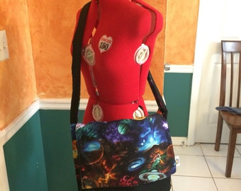 Outer Space Messeger Bag, Galaxy Messenger Bag, Space Age Messenger Bag
