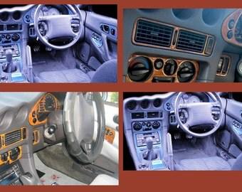Right Hand Drive Car Mitsubishi 3000 GTO 1990 91 1992 1993 1994 1995 1996 1997 1998 99 Interior Silver AluminCarbon Wood Dashboard Dash Trim