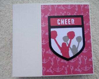 6x6 Pink and Black Cheer Scrapbook Photo Album