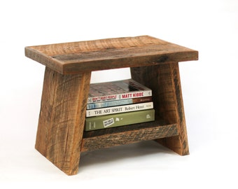 Children's Bench / Stool - Reclaimed Wood Stool  - Bathroom step stool - Barn Wood