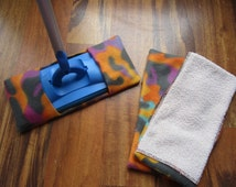 Reusable mop/duster sets in colored camo