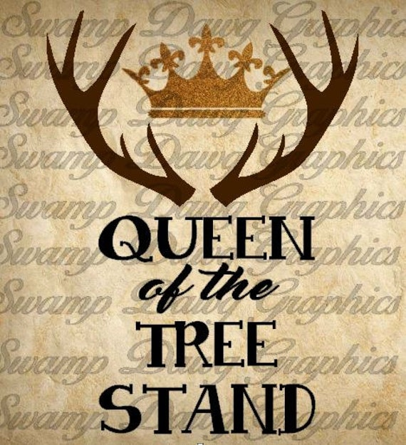 Queen Of The Tree Stand Cut File Silhouette Cricut Svg