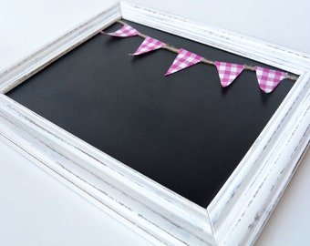 White Framed Chalk Board, Chalkboard, Black Board, Gift, Girls Gift, Kids Room,