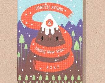 Cosy Mountain Christmas Card