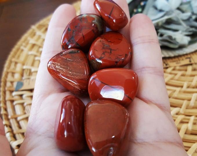 Red Jasper ~ 1 lg Reiki infused tumbled stone stone