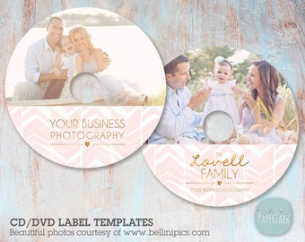 CD/dvd label photoshop template -ES007 - INSTANT Download