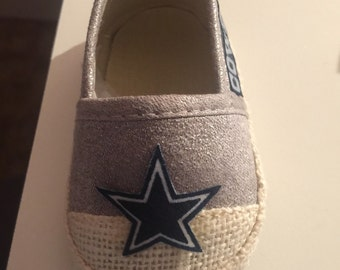 Loley pops creations Cowboy Baby shoes - 3/6 months! Ready to ship! this creation is made by me and not affiliated with NFL