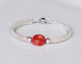 "Bracelet ""Easy to wear""-coral"