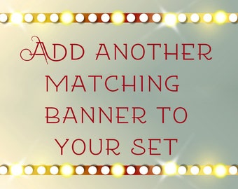 Add a matching banner or any extras that you might need.