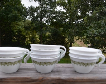 Vintage Set Of Ten Spring Blossom Crazy Daisy Corelle Livingware By Corning USA Coffee Cup