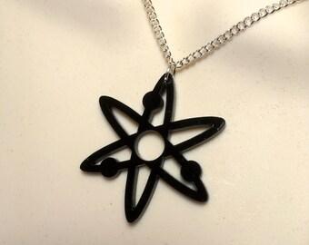 ATOMIC symbol...Laser cut Acrylic necklace