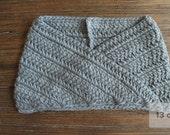 Heather Grey knit infinity scarf