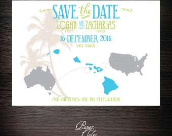 Australia, Two Countries Save the Dates - Digital
