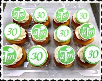 Monogram Cupcake Topper