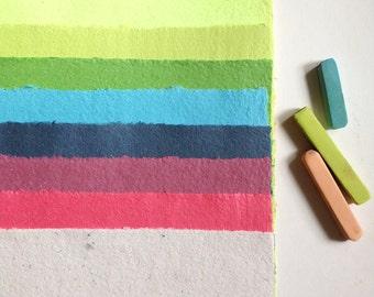 Rainbow Paper Pack Handmade Rainbow Paper Recycled Paper Upcycled Paper Handcrafted Paper Colorful Paper