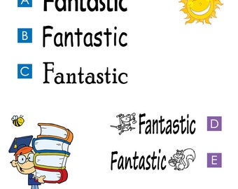Fantastic, Pre-inked teachers stamp (#680304)