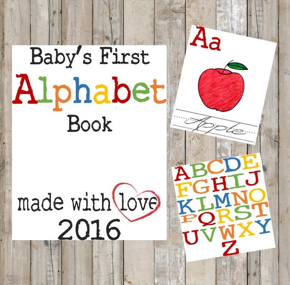 DIY Alphabet Book Baby's First Alphabet Book By TheDoubleDubs