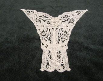 antique bobbin lace, dress bodice front