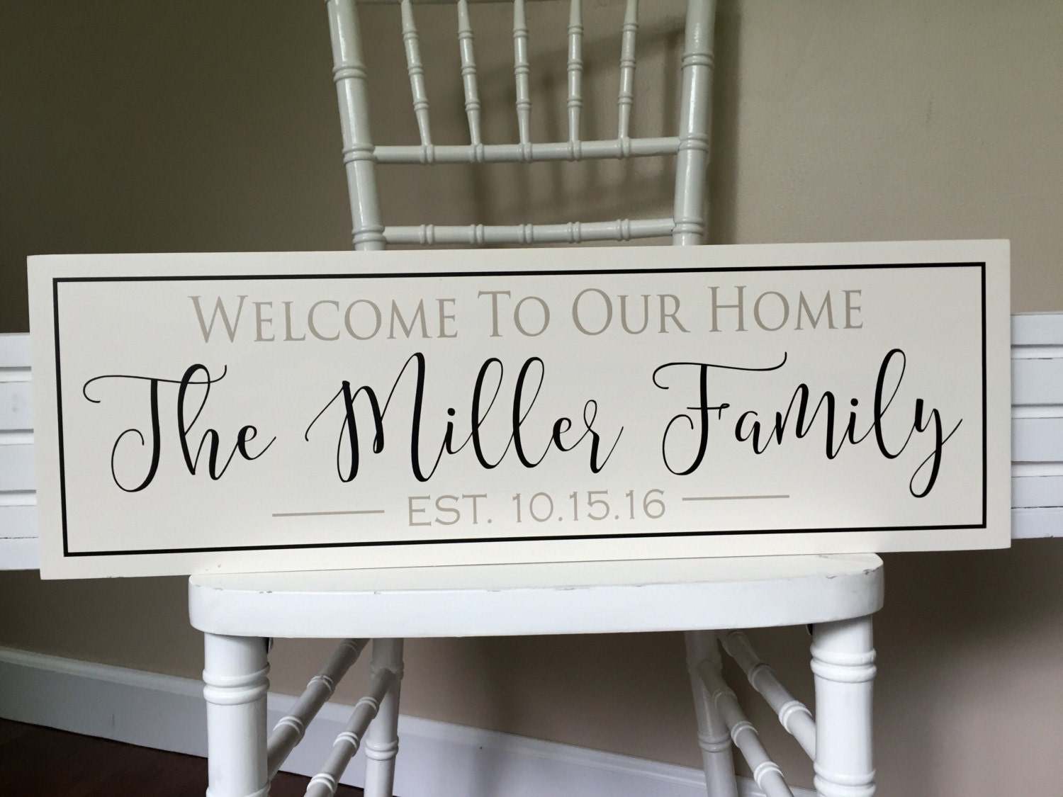 Personalized Welcome Sign Welcome To Our Home Sign Family