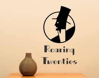 Art Deco Man Roaring Twenties... Vinyl Wall Decal