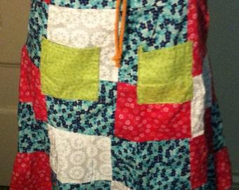 Patchwork skirt Med/Lg