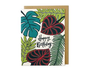 Birthday Card, Happy Birthday Card, Birthday Cards, Card Birthday, Cards Birthday, Birthday Card Friend, Tropical Birthday Card
