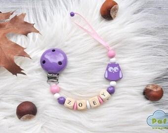 Dummy chain, Personalized pacifier clip, Dummy clip, Soothie pacifier clip, Binky holder, Personalized pacifier holder