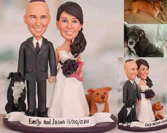 Personalised wedding cake topper - Sweet wedding Theme  (Free shipping)