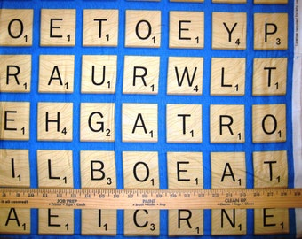 Game Night Scrabble Cotton Fabric by Quilting Treasures! [Choose Your Cut Size]